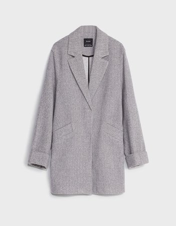 Straight coat - Outerwear - Woman | Bershka