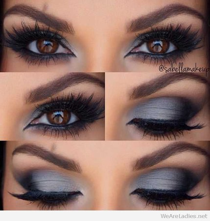 gray and blue makeup - Google Search