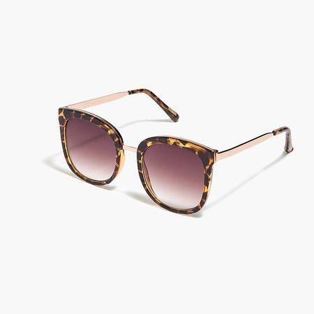 J.Crew Factory: Oversized Gold-frame Sunglasses