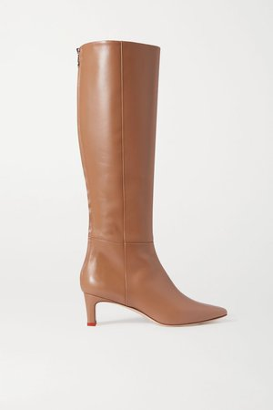 Neutral Sidney leather knee boots | aeyde | NET-A-PORTER