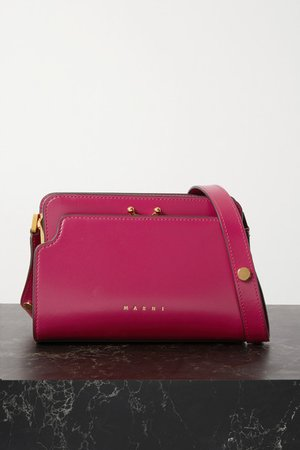 Trunk Reverse Small Leather Shoulder Bag - Pink