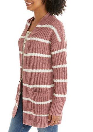 Pink Rose Chenille Cardigan