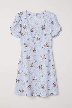 Creped Dress - Blue