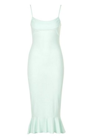 Strappy Cowl Neck Dress With Fishtail Hem | boohoo