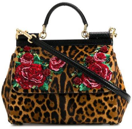 leopard Sicily tote bag
