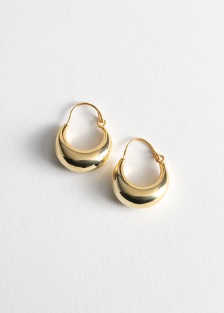 Droplet Hoop Earrings - Gold - Hoops - & Other Stories