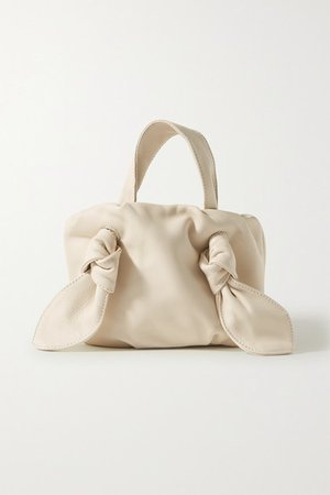 STAUD   Ronnie knotted leather tote   NET-A-PORTER.COM