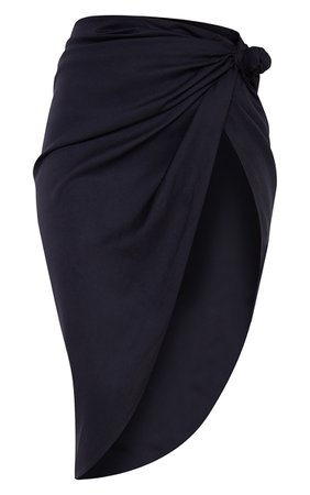 Black Sarong Midi Skirt | Skirts And Shorts | PrettyLittleThing USA