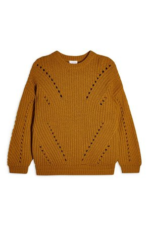 Topshop Chunky Pointelle Sweater | Nordstrom