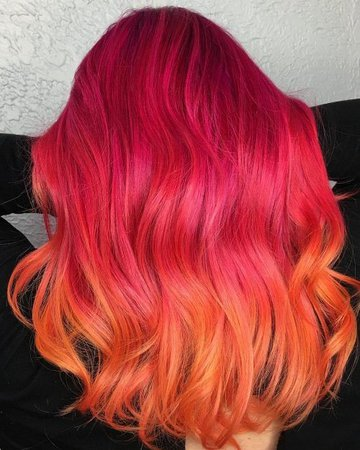pink & orange hair