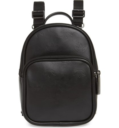 adidas Adicolor Mini Faux Leather Backpack | Nordstrom