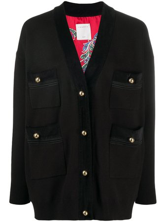 Sandro Paris Patch Pocket Oversized Cardigan - Farfetch