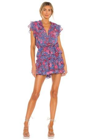 MISA Los Angeles Lilian Dress in Night Blooms | REVOLVE