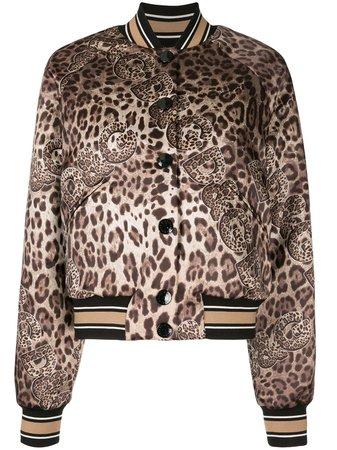 Dolce & Gabbana Leopard Print Bomber Jacket - Farfetch