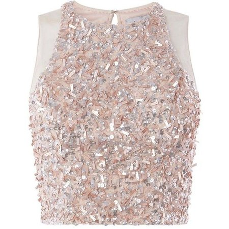 pink sparkling top
