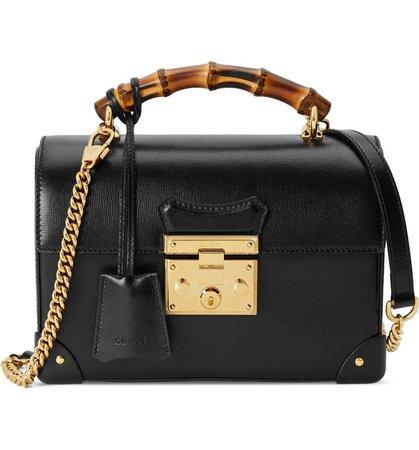 Gucci Padlock Bamboo Handle Leather Shoulder Bag | Nordstrom