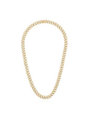 SHAY 18kt gold pavé diamond link necklace - FARFETCH