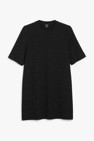 T-shirt dress - Black - Party dresses - Monki