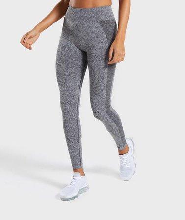 Gymshark Flex High Waisted Leggings - Grey/Pink | Hosen & Leggings | Gymshark
