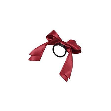 dark red ribbon bow hair - Google Search