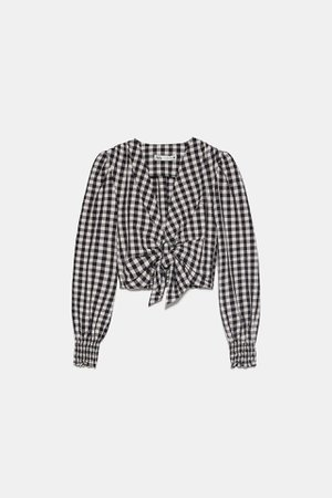 GINGHAM BLOUSE | ZARA United States