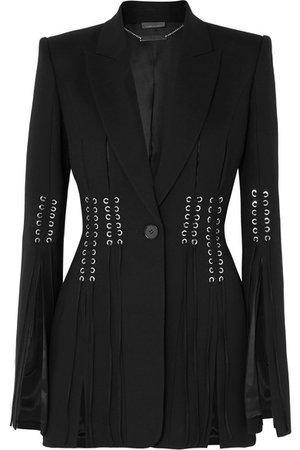 Alexander McQueen | Blazer en laine grain de poudre à lacets | NET-A-PORTER.COM