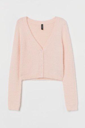 Fluffy Cardigan - Pink