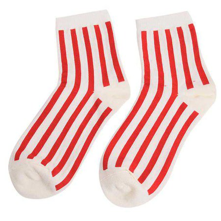 white socks with vertical red stripes - Google Search