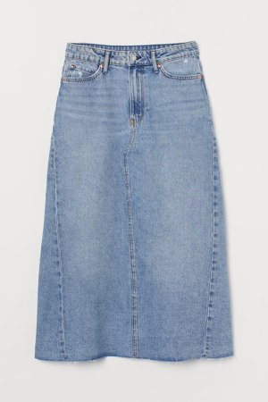 A-line Denim Skirt - Blue