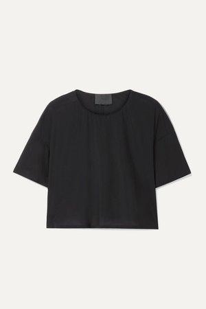 WONE | Classic cropped stretch-jersey T-shirt | NET-A-PORTER.COM
