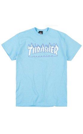 Blue Flame Trasher Shirt