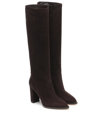 Gianvito Rossi - Kerolyn suede knee-high boots | Mytheresa