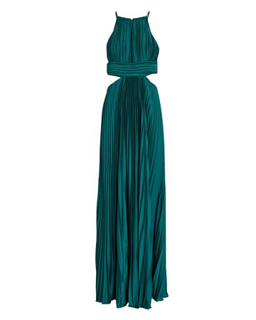AIIFOS Arianna Pleated Cut-Out Gown | INTERMIX®