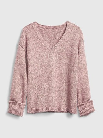 Metallic V-Neck Sweater | Gap