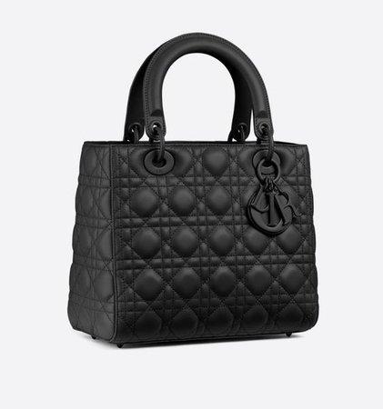 lady dior bag black