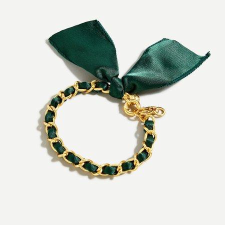 J.Crew: Fabric Chain Bracelet For Women