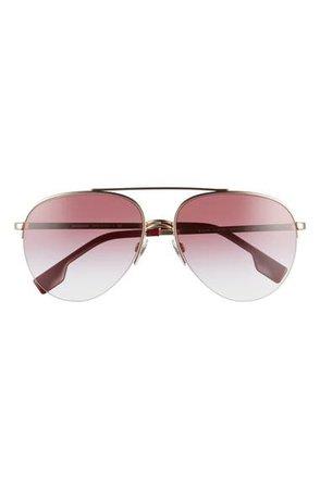 Burberry 59mm Polarized Aviator Sunglasses | Nordstrom