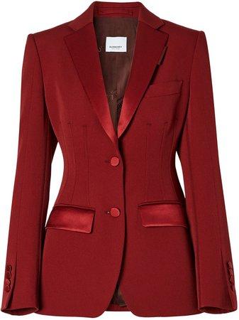 Burberry, contrast-trim Tailored Blazer