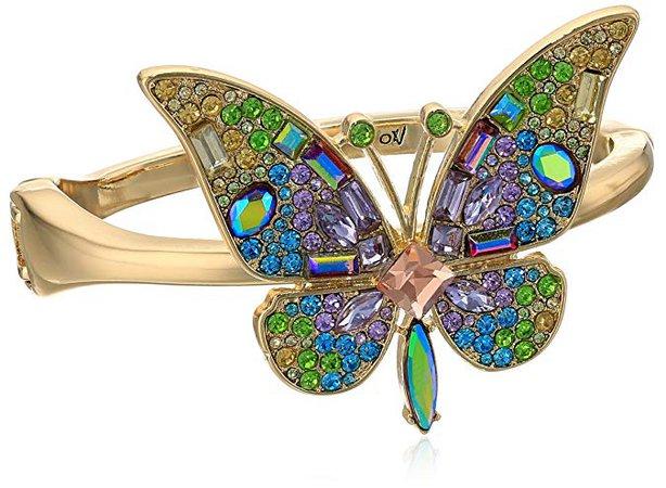 "Betsey Johnson ""Blooming Betsey"" Butterfly Statement Bracelet, Multi, One Size: Jewelry"