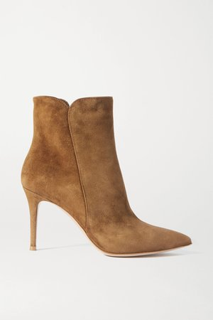 Tan Levy 85 suede ankle boots | Gianvito Rossi | NET-A-PORTER
