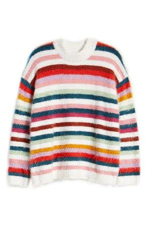 MINKPINK Debby Eyelash Stripe Sweater   Nordstrom