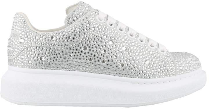 Crystal Embellished Lace-Up Sneakers