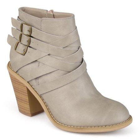 Brinley Co. - Brinley Co. Women's Ankle Multi Strap Boots - Walmart.com - Walmart.com stone