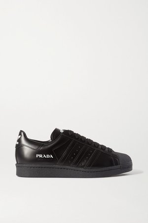 Prada Superstar Leather Sneakers - Black