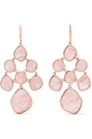 Monica Vinader | Siren Chandelier rose gold vermeil quartz earrings | NET-A-PORTER.COM