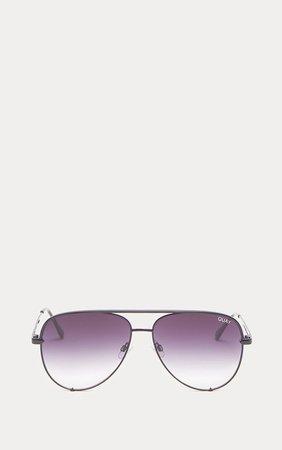 Quay Australia Black X Desi Sunglasses | PrettyLittleThing