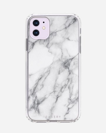 White Marble Clear Case iPhone 11   Casery