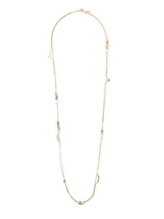 Iosselliani Silver Heritage Pearl Long Necklace