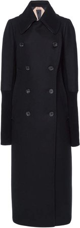 N21 Wool Double-Breasted Coat