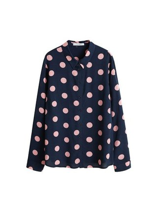 Violeta BY MANGO Buttoned printed blouse